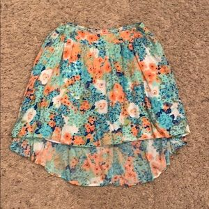Candie's mini high low floral skirt